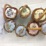 Floral pincushion baskets